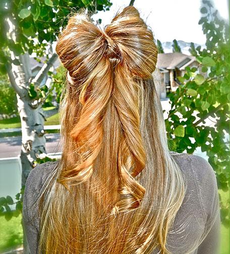 Причёски на 1 сентября бантик из волос