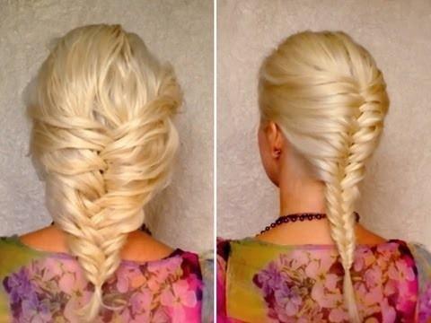 колосок на светлых волосах: