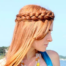 коса-корона вокруг головы