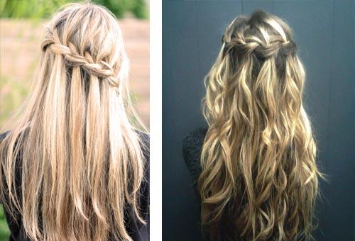 Разнообразие способов плетения таких кос, позволяет создавать самые непредсказуемые прически с французских косами.
