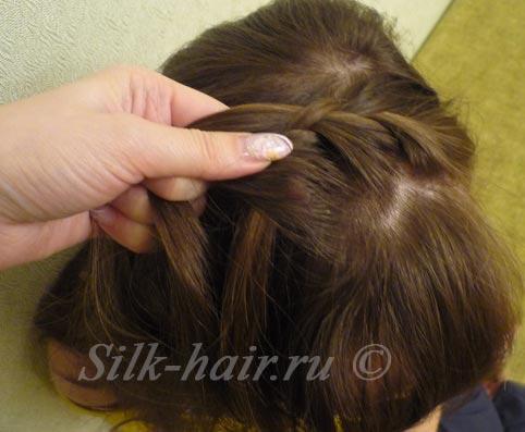 косичка ободок вокруг  головы