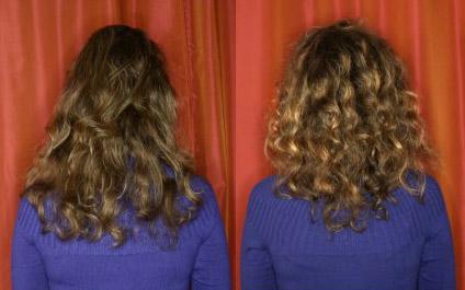 ламинирование кудрявых волос: до и после