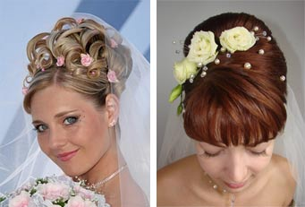 прически на свадьюу с живыми цветами