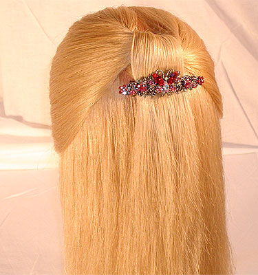 как красиво и просто заколоть волосы