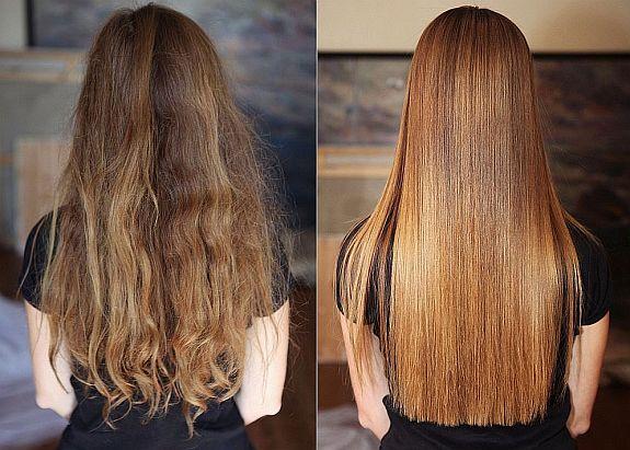 химическое выпрямление волос до и после процедуры