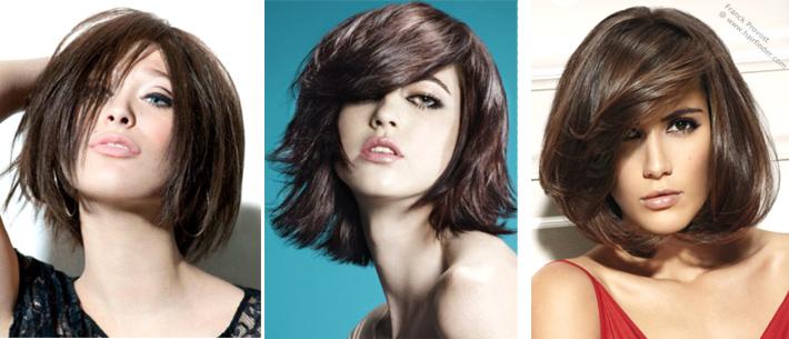 прически средней длины на темные волосы фото