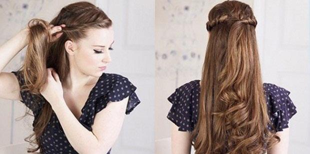 Прически на длинные волосы фото с челкой на каждый день