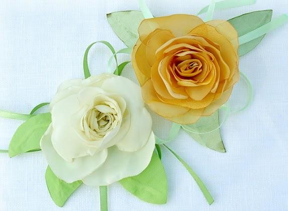 Заколки из цветов своими руками из ткани
